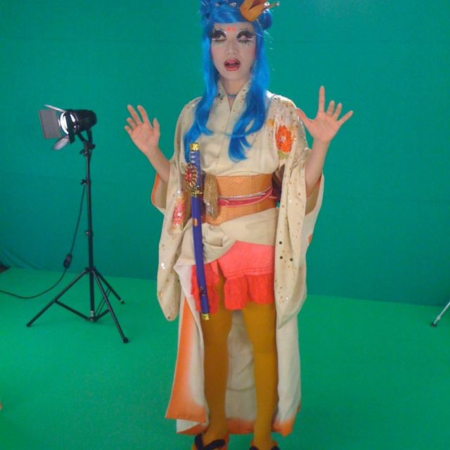 littletaikoboy amaterasu dragqueen shinto goddess filmshoot tokyo greenscreen gayfilm safesexhellip